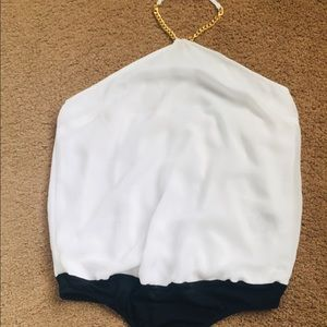 Guess white bodysuit NWOT